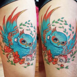 Tattoo just pärast tegemist