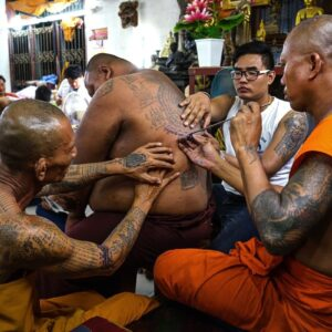 The work of multiple monks.