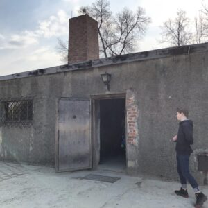 Only remaining Auschwitz gas chamber in I camp.