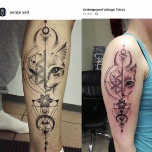 Yurga töö ja sellest tehtud koopia. Veel koopiaid estonian_tattoo_judge IGs.