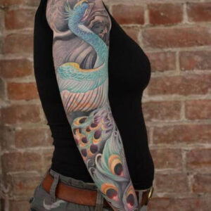 Sleeve by Jeff Gogue, moves with muscles of the arm.