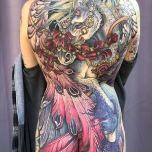 Back piece by Teresa Sharpe, moves perfectly with the body.